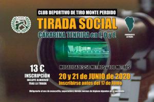 Cartel Tirada Social Carabina Tendida en F. D y E · Club Deportivo de Tiro Monte Perdido · Fuencaliente La Palma