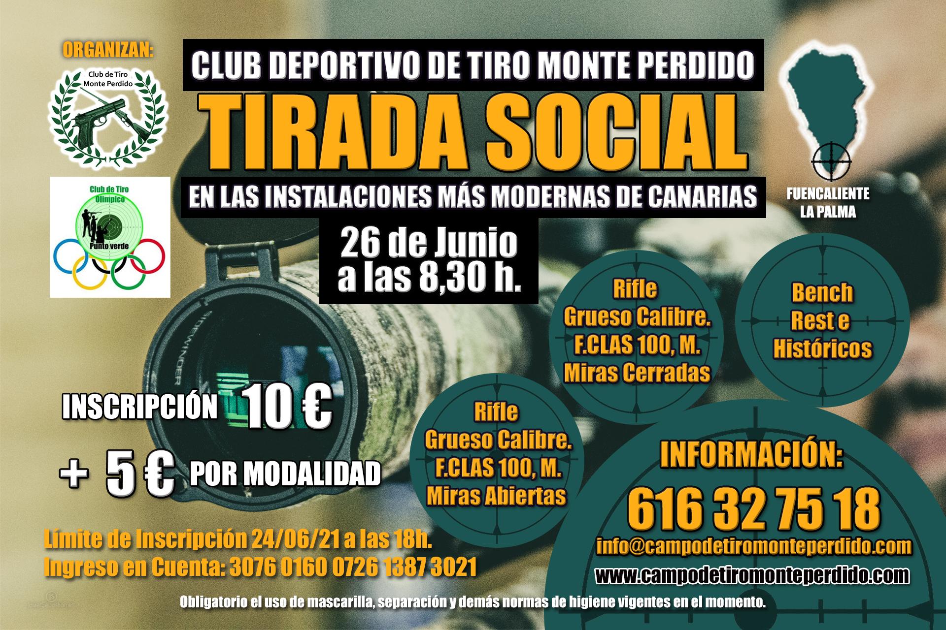 Tirada Social Rifles, Bench Rest e Históricos. 26 de Junio 2021 · Club Deportivo de Tiro Monte Perdido · Fuencaliente La Palma